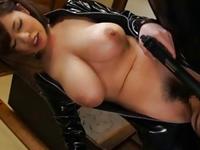 ラバースーツの軟乳娘がM男痴女ってズボハメ→キツマンズボって大量顔射!