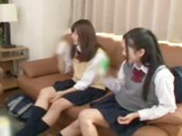 二人組女子校生連れ込み→酒を飲ませて泥酔ハーレム3P展開!
