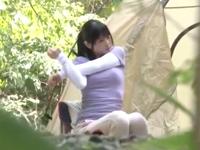 キャンプ中の美少女を媚薬で狂わせレイプし中出し!