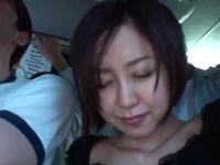 バス内での囲み痴漢がエスカレートし最後までヤラれちゃった人妻