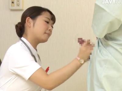 童貞の筆おろし専門クリニックで美人看護師が次々と手コキでチンポ癒やす