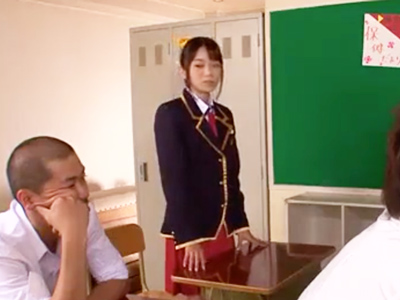 「先生イッちゃうよぉ」アイドル顔の美少女JKが担任チンポで悶えイキ