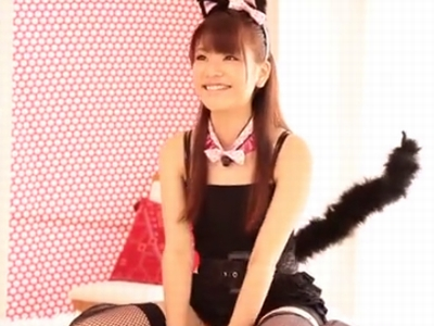 黒猫コスの美少女がイケメンチンポにガチ濡れ絶頂w