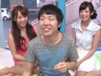 「卒業おめでとー!」神カワ美女2人組が童貞くんを優しく筆おろし!