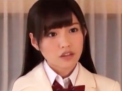 「お顔に熱いザーメン掛けて♪」圧倒的に美形な美少女JKの顔にザーメン大量顔射