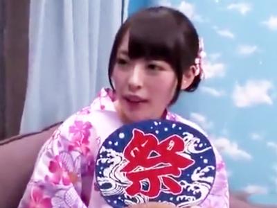 お祭り帰りの浴衣美女をナンパ→MM号連れ込み中出しハメ!