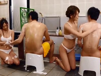 巨乳痴女によるフェラ抜きサービスのある神温泉見つけたったw