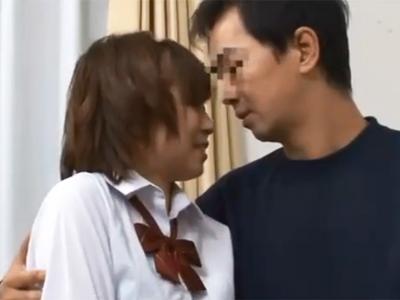 美少女JK娘がハゲかけのおっさんに抱かれて絶頂→大量顔射展開
