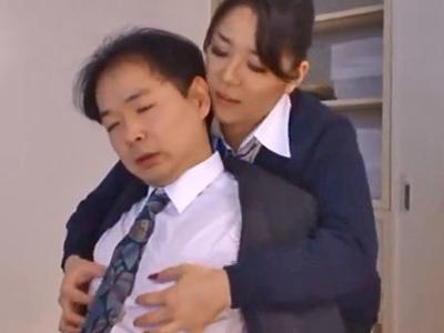 会社で公開オナニー→同僚チンポに顔射されて恍惚晒すビッチOL