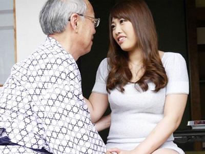 巨乳人妻が変態ジジイの言いなりになってハメ倒される中出しSEX介護
