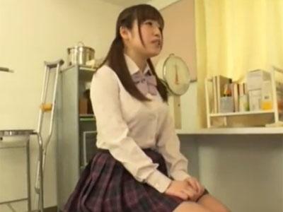 身体検査を受けに来た美少女JKが変態医師の罠にかかり生中出しハメ
