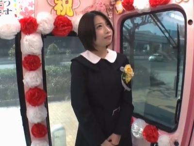 【JK羞恥】汗だくなエロい制服のJK女子高生美人娘の羞恥露出フェラプレイが、野外で!!